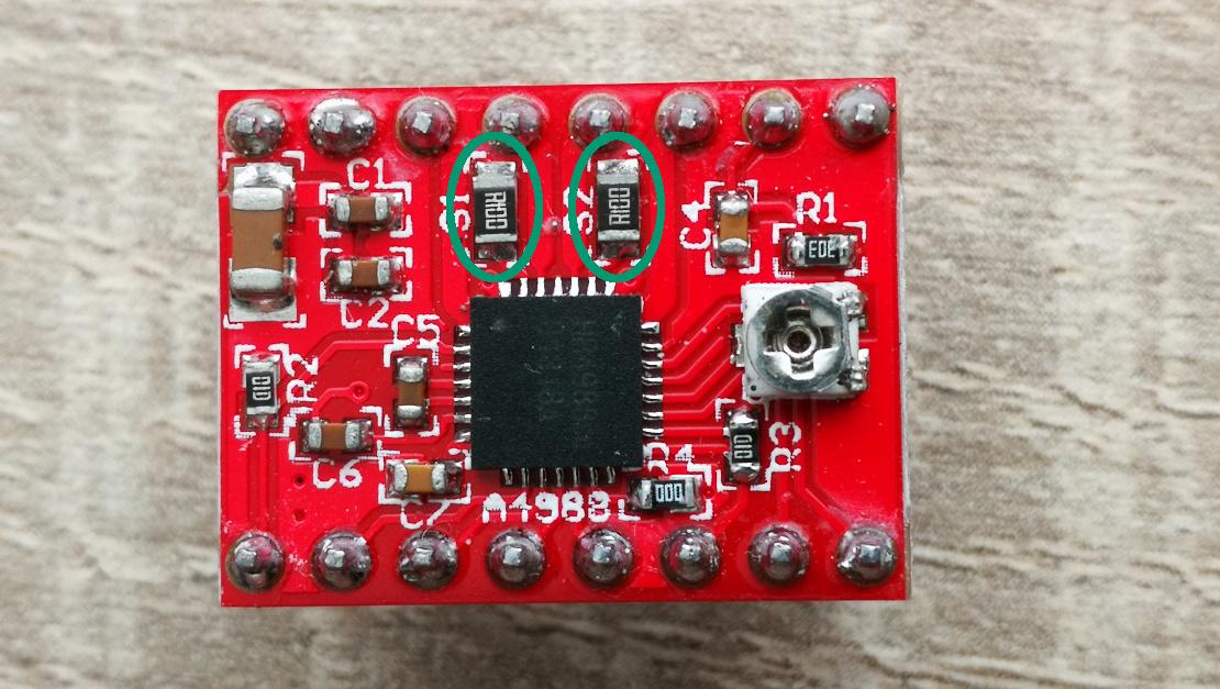 A4988 Current sense resistors