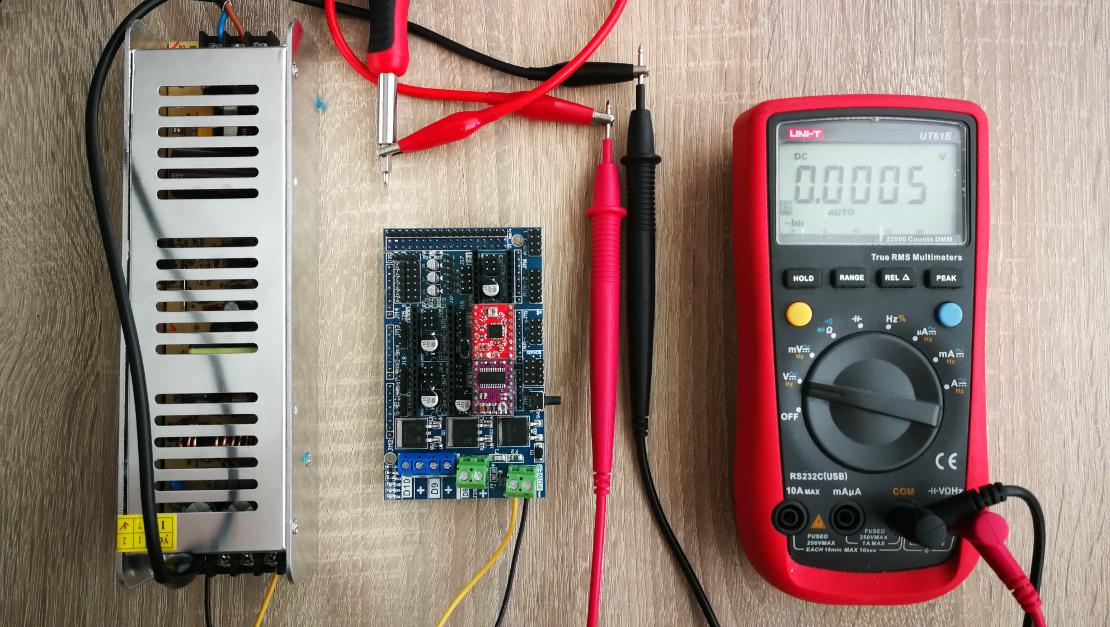 VREF calibration setup A4988 DRV8825